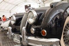 Jaguar XK140, coches de la vendimia Foto de archivo libre de regalías