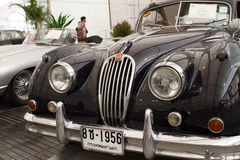 Jaguar XK140, Vintage cars. BANGKOK - JUNE 24 : Jaguar XK140, Vintage cars on display in Future park shopping center to celebrate the 36Th vintage car event on Stock Image