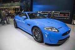 Jaguar XKR-S2 Coupé de première mondiale images stock