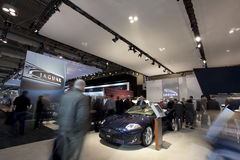 Jaguarausstellung bei Autoshow 2010 Stockfoto