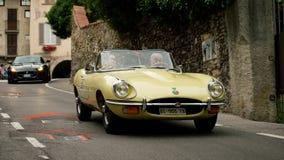 Jaguaren bij de Historische Grand Prix 2015 van Bergamo Stock Foto