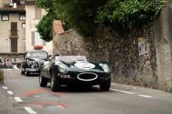Jaguaren bij de Historische Grand Prix 2015 van Bergamo Stock Foto's
