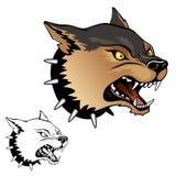 Jaguarhuvud vektor illustrationer