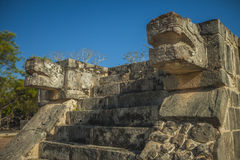 Jaguars & Eagles. Platform Of The Jaguars And Eagles, Chichen Itza, Mexico Stock Photos