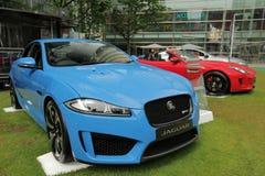 Jaguars at Motorexpo in London Stock Photos