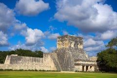 Jaguars temple Balam Chichen Itza Mexico. Jaguars temple Balam in Chichen Itza at Yucatan Mexico Stock Image