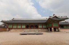 Jagyeongjeon Salão do palácio de Gyeongbokgung em Seoul, Coreia Imagens de Stock