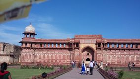 Jahangir Mahal Agra fort, Agra, Indien Fotografering för Bildbyråer