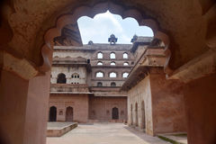 JAHANGIR MAHAL ORCHHA. Jahangir palace in Orchha (India) a striking example of medieval Mughal architecture Stock Image