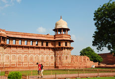 Jahangiri Mahal in Agra fort Royalty Free Stock Photography