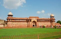 Jahangiri Mahal nella fortificazione di Agra, India Fotografia Stock