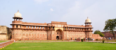 Jahangiri Mahal ,a palace in Agra Fort,Agra,India. Panoramic view of Jahangiri Mahal, a fort buil by Akbar the Great , for his son Jehangir, within the premises Royalty Free Stock Photography