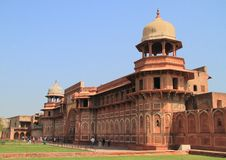 Jahangiri mahal palace in agra fort Stock Image