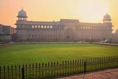 Jahangiri Mahal w Agra forcie przy wschodem słońca, Uttar Pradesh, India Zdjęcia Royalty Free