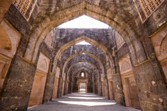 Jahaz玛哈尔,船宫殿在Mandu,中央邦,印度 免版税图库摄影