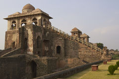 Jahaz Mahal in Mandu, India. Ancient islamic royal palace of Jahaz Mahal. Mandu, Madhya Pradesh, India. 16th Century AD royalty free stock photography