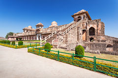 Jahaz Mahal, Mandu. Jahaz Mahal (Ship Palace) in Mandu, Madhya Pradesh, India stock photography