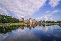 Jahaz Mahal Ship Palace At Mandu India. India, Mandu - Jahaz Mehal/Ship Palace Situated between two artificial lakes, this two storied architectural marvel is so royalty free stock image