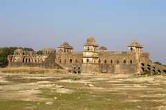 Jahaz Mahal , Ship Palace in sunrise. Mandu, Madhya Pradesh. India Royalty Free Stock Images