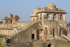 Jahaz Mahal , Ship Palace in sunrise. Mandu, Madhya Pradesh. India Royalty Free Stock Photos