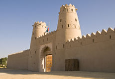 Jahili Fort - Al Ain. Built by Shk Zayed the first in 1890s. Recently renovated to its former glory Royalty Free Stock Images