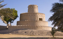 Jahili Fort - Round Tower. Built by Shk Zayed the first in the 1890s.  Recently renovated to its former glory Stock Image