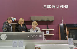 Jahnke furniture German company booth Royalty Free Stock Images