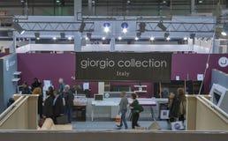 Jahnke i Giorgio firmy Inkasowi boothes Obrazy Stock