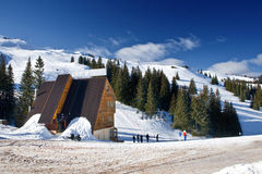 Jahorina Ski Mitte, Bosnien und Hercegovina stockfotografie