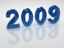 Jahr 2009 lizenzfreie abbildung