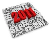 Jahr 2011 lizenzfreie abbildung
