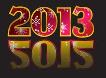 Jahr 2012, Jahr 2013 Vektor Stockfotografie