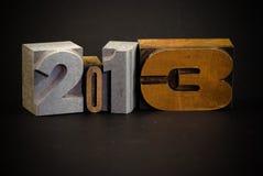 Jahr 2013 Lizenzfreie Stockfotos
