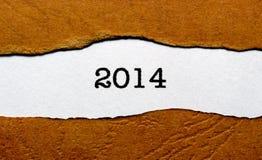Jahr 2014 Stockfoto