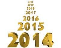 Jahr 2014 lizenzfreie abbildung