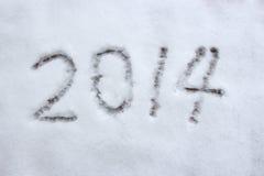 Jahr 2014 Lizenzfreies Stockbild