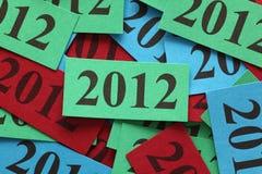 Jahr 2012 Lizenzfreie Stockfotos