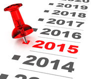 Jahr 2015 stockfotografie