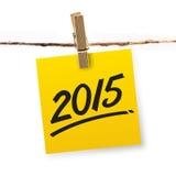 Jahr 2015 Lizenzfreies Stockbild