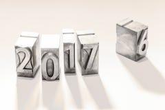 Jahr 2017 Stockbild