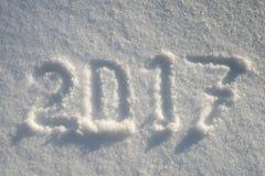 Jahr 2017 auf Schnee Lizenzfreies Stockfoto