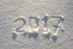 Jahr 2017 auf Schnee Lizenzfreie Stockbilder