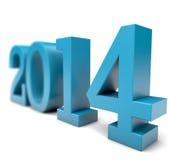 Jahr 2014 in 3D Lizenzfreie Stockfotos