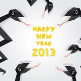 Jahr der schwarzen Schlange. stock abbildung