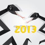 Jahr der schwarzen Schlange. vektor abbildung