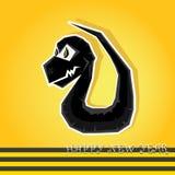 Jahr der schwarzen Schlange. lizenzfreie abbildung