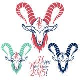 Jahr der Vektorillustrationen der Ziege 2015 eingestellt Stockfotos