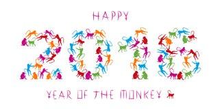 Jahr des Affen Stockfotos