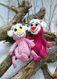 Jahr des Affen, gestricktes Spielzeug, Symbol, handgemacht Stockfoto