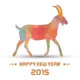 Jahr des Goat4 Stockbild